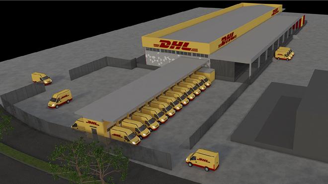 Kέντρο διαλογής της DHL στο αεροδρόμιο «Μακεδονία»
