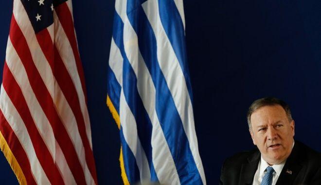 Ο υπουργός Εξωτερικών των Η.Π.Α. Μάικ Πομπέο στο Κέντρο Πολιτισμού του Ιδρύματος Σταύρος Νιάρχος