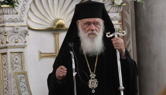 Ο Αρχιεπίσκοπος Αθηνών και πάσης Ελλάδος Ιερώνυμος.
