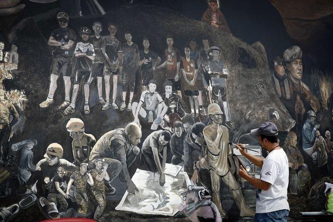 Ταϊλανδός καλλιτέχνης μετατρέπει σε ζωγραφιά την διάσωση