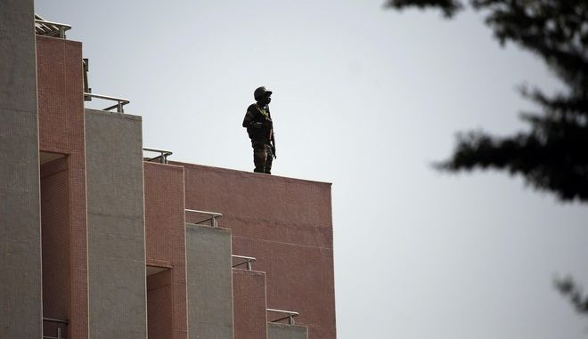 Στρατιώτης στο Μπαμακό του Μάλι - φωτογραφία αρχείου