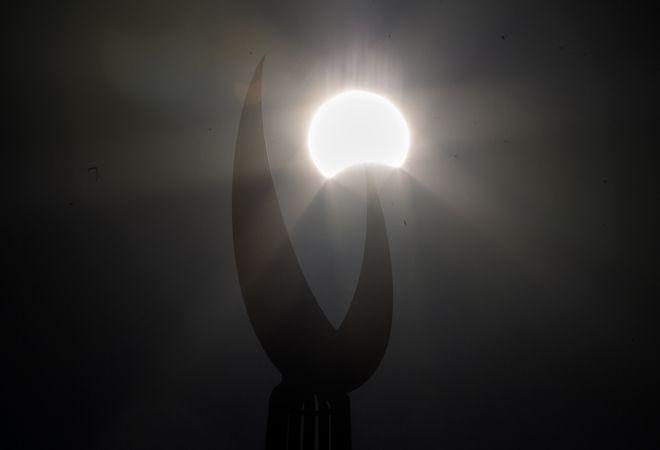 H έκλειψη ηλίου από το Πακιστάν.