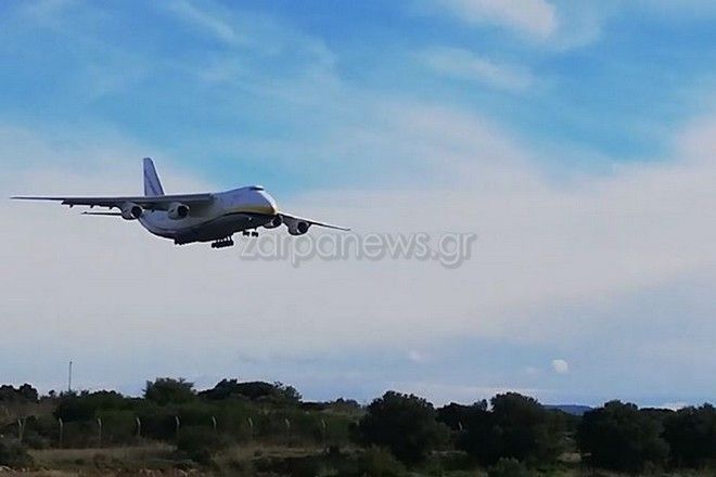 Στα Χανιά ο ''γιγάντας των αιθέρων'' Antonov 124 – Εντυπωσιακές εικόνες