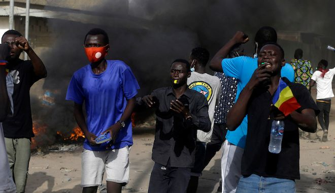 Πέντε νεκροί σε συγκρούσεις στο Τσαντ μεταξύ διαδηλωτών και των δυνάμεων ασφαλείας, 27 Απριλίου 2021