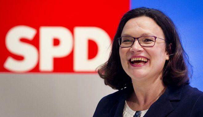 Η νέα επικεφαλής του SPD, Άντρεα Νάλες