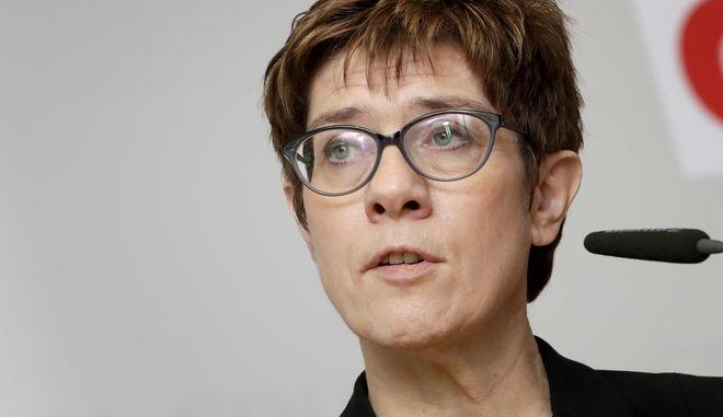 H επικεφαλής του CDU Annegret Kramp-Karrenbauer