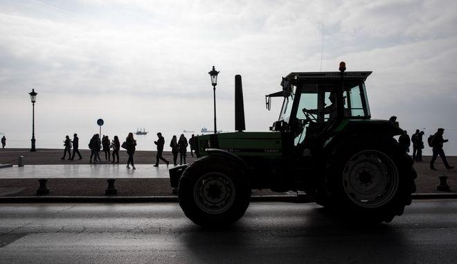 Τρακτέρ στη Θεσσαλονίκη