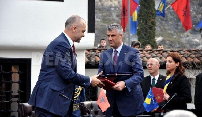 Κοινή συνεδρίαση των κυβερνήσεων Κοσόβου και Αλβανίας