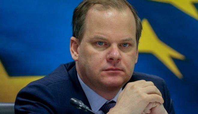 Ο Υπουργός Υποδομών και Μεταφορών Κώστας Καραμανλής.