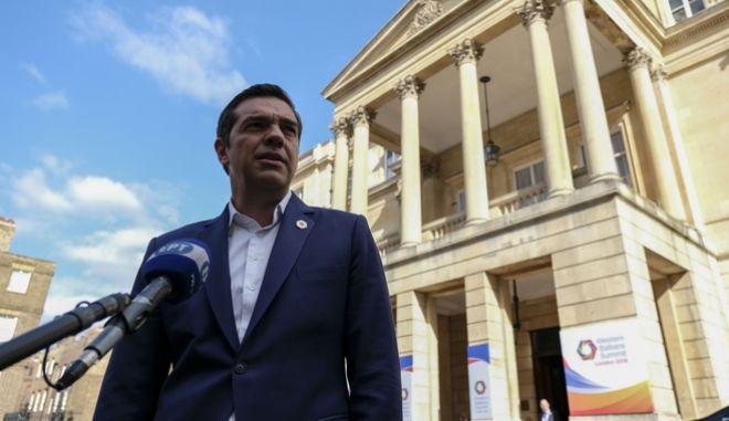 Ο Αλέξης Τσίπρας στη Σύνοδο των Δυτικών Βαλκανίων στο Λονδίνο