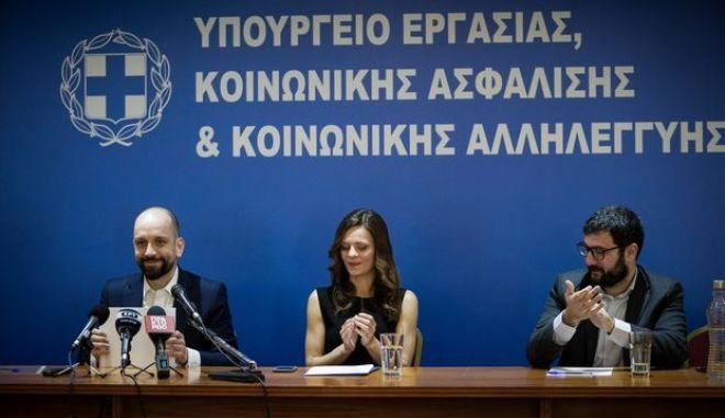 Τελετή παράδοσης - παραλαβής στο Υπουργείο Εργασίας, Κοινωνικής Ασφάλισης και Κοινωνικής Αλληλεγγύης, την Τρίτη 19 Φεβρουαρίου 2019. (EUROKINISSI/ΓΙΑΝΝΗΣ ΠΑΝΑΓΟΠΟΥΛΟΣ)