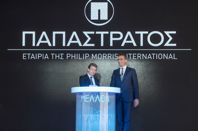 O Αντρέ Καλαντζόπουλος και ο Χρήστος Χαρπαντίδης στα εγκαίνια των νέων γραμμών στον Ασπρόπυργο