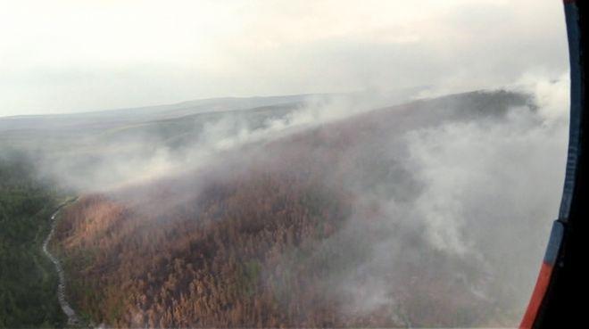 Η φωτιά στο Krasnoyarsk