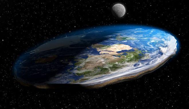 """Ο νέος, πιο """"ακριβής"""" παγκόσμιος χάρτης που οι οπαδοί της Επίπεδης Γης θα λατρέψουν"""
