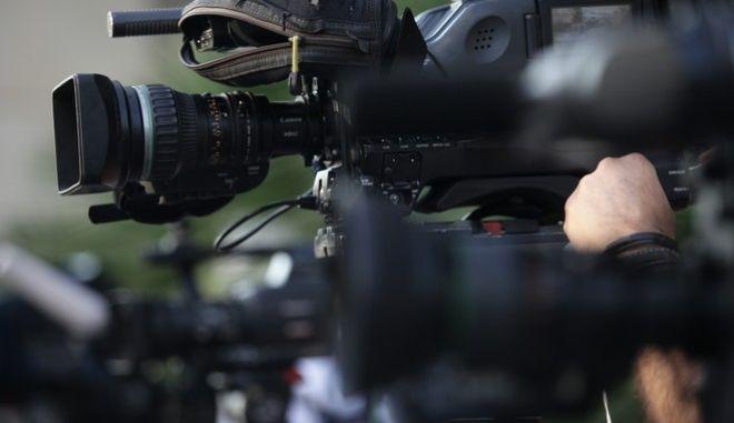 Στιγμιότυπο από την Γενική Γραμματεία Ενημέρωσης κατα την διάρκεια της δημοπρασίας των τηλεοπτικών αδειών την Πέμπτη 1 Σεπτεμβρίου 2016. (EUROKINISSI/ΓΙΑΝΝΗΣ ΠΑΝΑΓΟΠΟΥΛΟΣ)