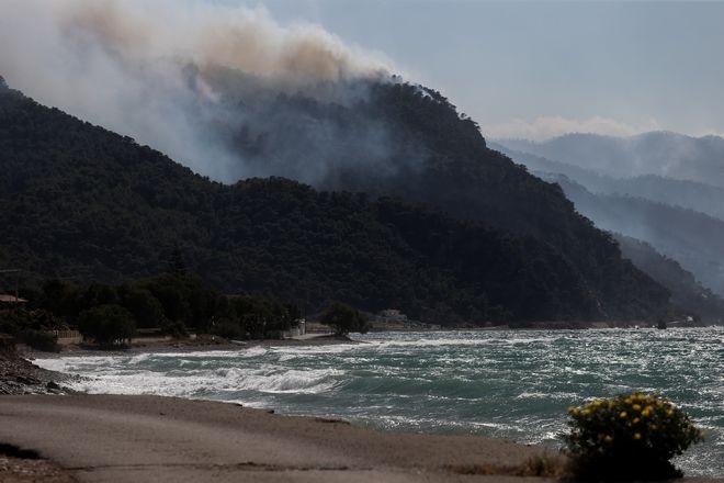 Φωτιά στα Γεράνεια Όρη: Διάσπαρτες εστίες, πέφτουν οι άνεμοι - Στάχτη 40.000 στρέμματα δάσους