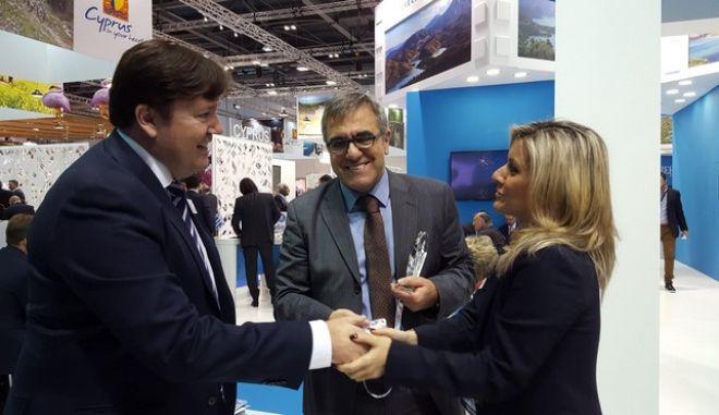 Βραβείο για τη μεγαλύτερη επισκεψιμότητα το περίπτερο του ΕΟΤ στο Λονδίνο