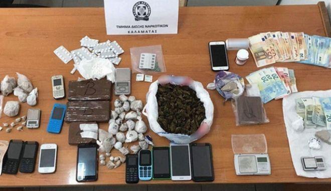 Εξαρθρώθηκε κύκλωμα διακίνησης ναρκωτικών σε Μεσσηνία και Αττική
