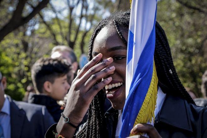 Μαθητική παρέλαση για την εθνική επέτειο της 25ης Μαρτίου 1821 στην Αθήνα το Σάββατο 24 Μαρτίου 2018. (EUROKINISSI/ΓΙΑΝΝΗΣ ΠΑΝΑΓΟΠΟΥΛΟΣ)