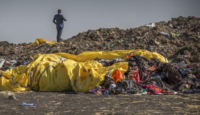 Το σημείο συντριβής του Boeing της Ethiopian Airlines