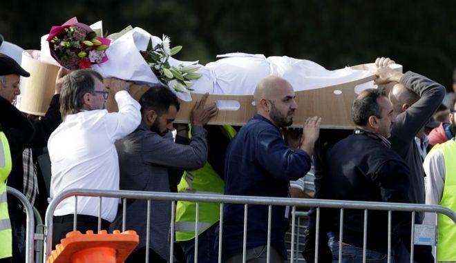 Κηδεία θυμάτων του μακελειού στη Νέα Ζηλανδία