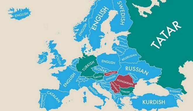 SECDONDARY LANGUAGES SPOKEN IN COUNTRIES OF EUROPE And Around The - Languages spoken in each country of the world