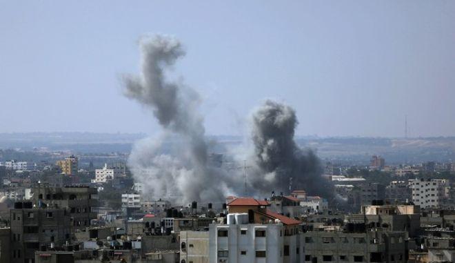 Ισραηλινά χτυπήματα στη Λωρίδα της Γάζας. Φωτό αρχείου.