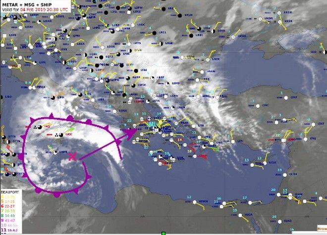 Καιρός: Χιονοπτώσεις, χαλάζι, έντονες καταιγίδες και άνεμοι 9 μποφόρ
