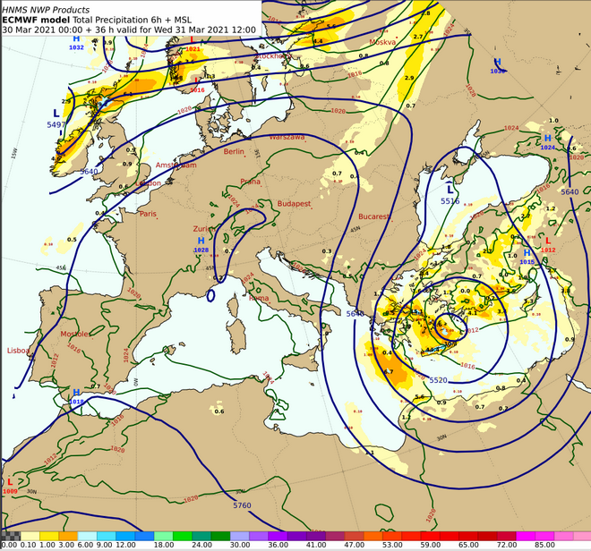 Κακοκαιρία από Τετάρτη με βροχές και καταιγίδες σε Κυκλάδες, χιόνια στην Κρήτη