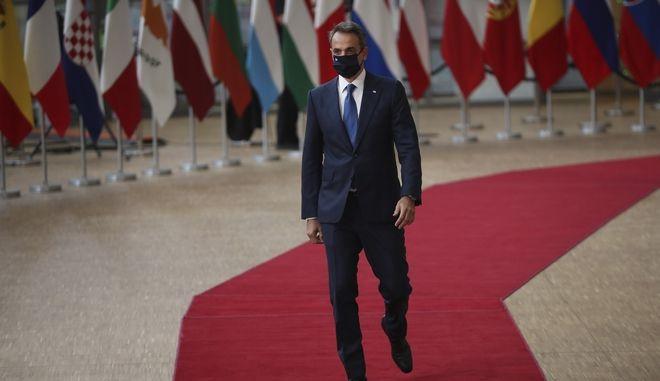 Ο Κυριάκος Μητσοτάκης στις Βρυξέλλες για την Σύνοδο Κορυφής του Ιουλίου 2020