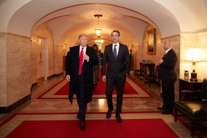 Ο Κυριάκος Μητσοτάκης συναντηθηκε με τον Ντόναλντ Τραμπ στον Λευκό Οίκο