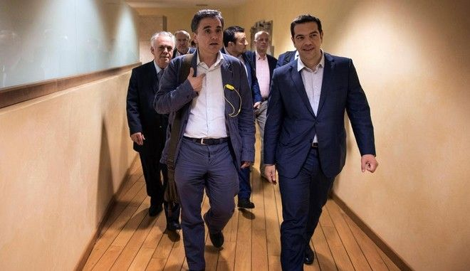 Greek Prime Minister at the European Commission offices during an extraordinary Eurogroup meeting in Brussels, Belgium on June 25, 2015.