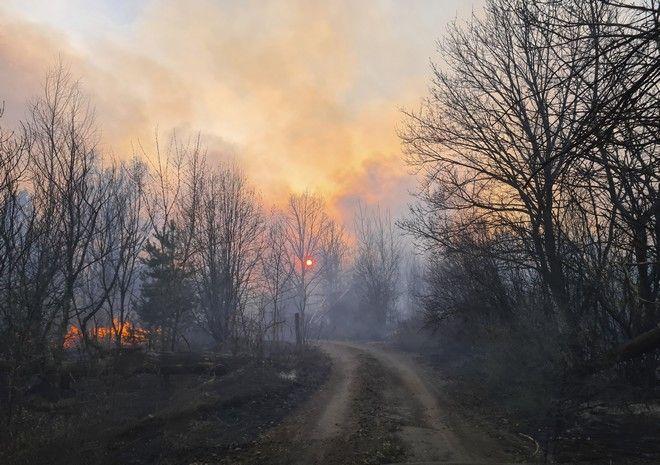 Φωτιά στο Τσέρνομπιλ
