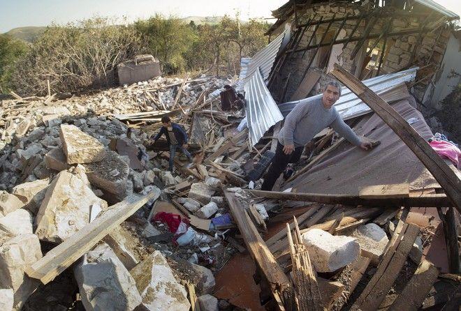 Καταστραμμένο σπίτι στο Ναγκόρνο Καραμπάχ