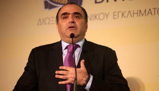 Ο διευθυντής της Δίωξης Ηλεκτρονικού Εγκλήματος . Σφακιανάκης, στην ημερίδα για την παρουσίαση του ανανεωμένου ιστότοπου της Ελληνικής Αστυνομίας www.cyberkid.gov.gr., από την Διεύθυνση Δίωξης Ηλεκτρονικού Εγκλήματος, την Τετάρτη 7 Μαΐου 2014. (EUROKINISSI/ΑΛΕΞΑΝΔΡΟΣ ΖΩΝΤΑΝΟΣ)