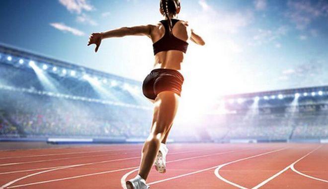 Αθλήτρια στίβου.
