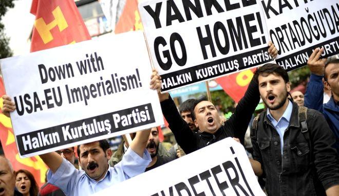 Από διαδήλωση κομμουνιστών στην Τουρκία