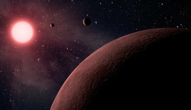This artist rendering provided by NASA/JPL-Caltech shows some of the 219 new planet candidates, 10 of which are near-Earth size and in the habitable zone of their star identified by NASAs Kepler space telescope. NASA says its planet-hunting telescope has found 10 new planets outside our solar system that are likely the right size and temperature to potentially have life on them. As the Kepler telescope finished its main mission, NASA announced Monday that it has seen a total of 49 planets in the Goldilocks Zone for possible life. And they only looked in a tiny part of the galaxy. (NASA/JPL-Caltech via AP)