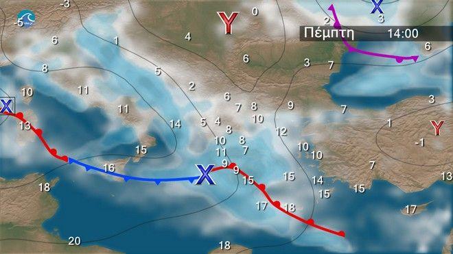 Ο καιρός στα Βαλκάνια την Πέμπτη