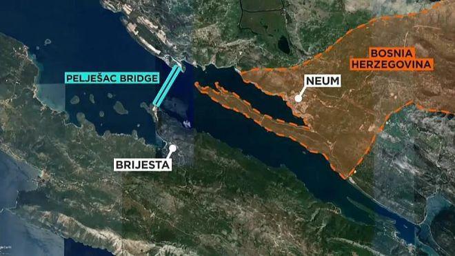 Η Κροατία έχτισε γέφυρα-θηρίο στη μοναδική έξοδο της Βοσνίας προς τη θάλασσα