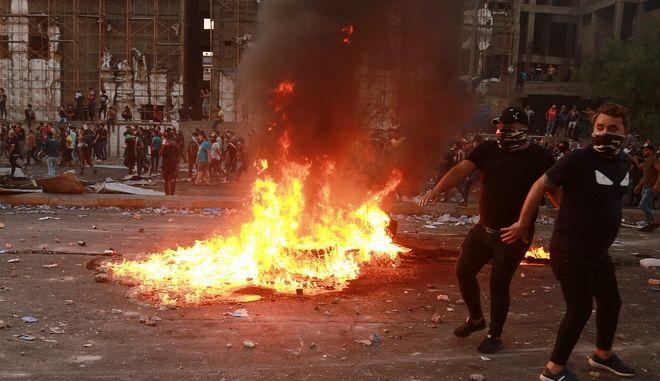 Ιράκ διαδηλωτές
