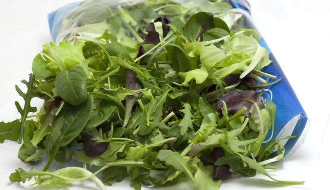 Κίνδυνος σαλμονέλας από συσκευασμένες σαλάτες