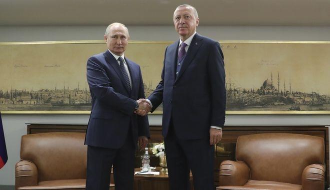 Ερντογάν και Πούτιν μαζί για τον Turkish Stream