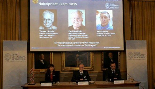 Νόμπελ Χημείας 2015 στους Λίνταλ, Μόντριτς και Σανκάρ