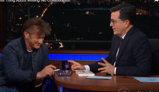 Σάλος για τα τσιγάρα που κάπνισε ο Σον Πεν σε τηλεοπτική εκπομπή
