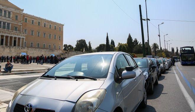 Φωτό αρχείου: Διαδήλωση εκπαιδευτών οδηγών στο κέντρο της Αθήνας