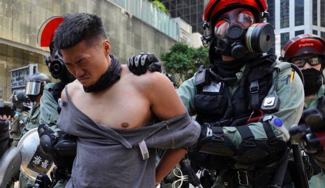 Εικόνα από τις διαδηλώσεις στο Χονγκ Κονγκ
