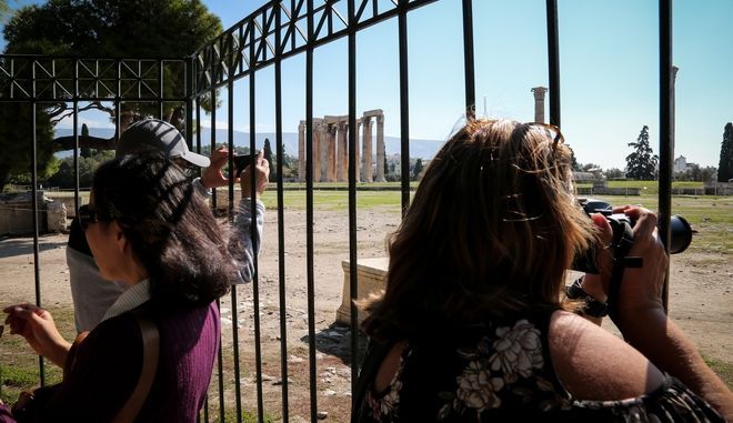 Φωτό αρχείου: Κλειστός ο αρχαιολογικός χώρος στις στήλες του Ολυμπίου Διός λόγω της απεργίας