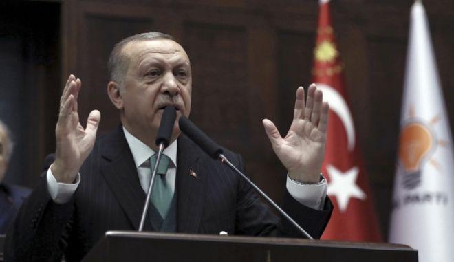 Ο πρόεδρος της Τουρκίας Ρετζέπ Ταγίπ Ερντογάν (AP Photo/Burhan Ozbilici)