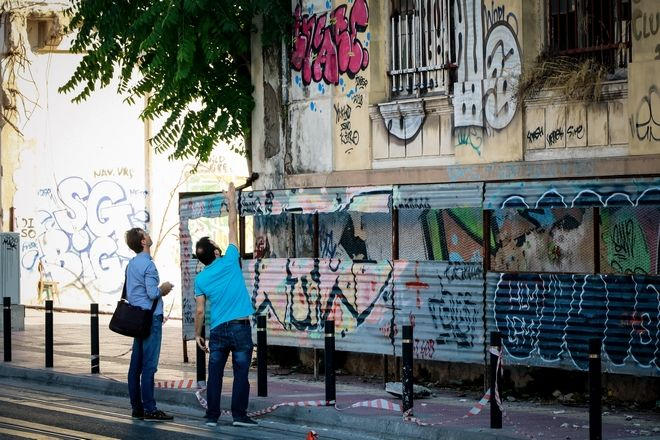 Εγκατελελειμμένο κτήριο στην Οδό Ομήρου Σκυλίτση